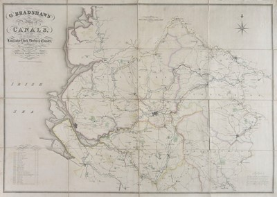 Lot 19-Canal Maps. Bradshaw (G.), Two canal maps, circa 1829
