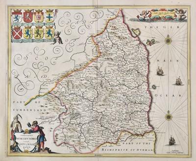 Lot 68 - Northumberland. Jansson (Jan), Comitatus Northumbria vernacule Northumberland, circa 1648