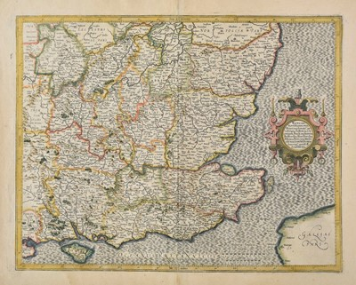 Lot 58 - Mercator (Gerard & Hondius H.). Four regional maps of England and Wales, 1595 or later