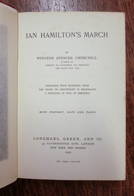 Lot 143-Churchill (Winston Leonard Spencer, 1874-1965). Ian Hamilton's March, 1st edition