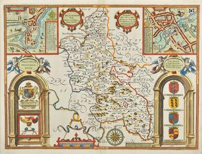 Lot 16 - Buckinghamshire. Speed (John), Buckingham both Shyre and Shire towne described, circa 1627