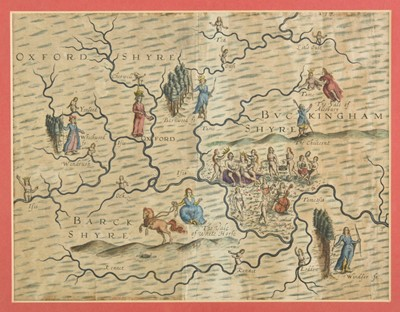 Lot 29-Drayton (Michael). Two allegorical maps, 1612 or later