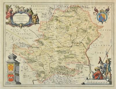 Lot 48 - Hertfordshire. Four engraved maps, 17th - 19th century
