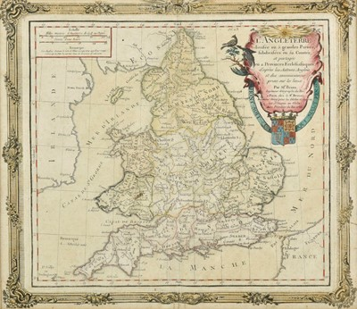 Lot 55 - Maps and prints. A collection of six engraved maps and prints, mostly 19th century