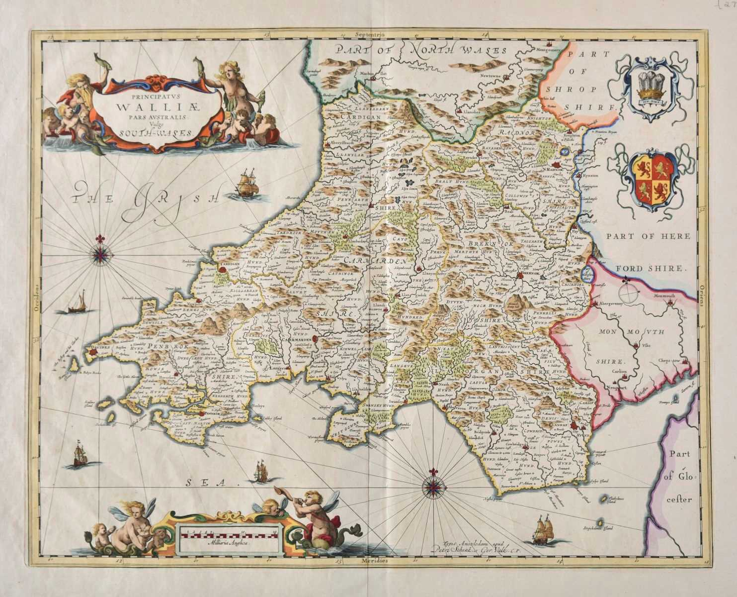 Lot 5-British county maps. A good mixed collection of approximately thirty maps, 17th - 19th century