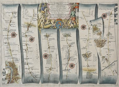 Lot 71 - Ogilby (John). The Road from London to Aberistwith..., 1675 or later