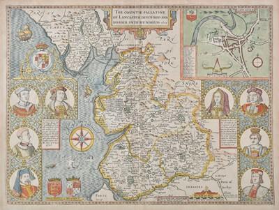 Lot 53 - Lancashire. Speed (John), The Countie Palatine of Lancaster..., 1676