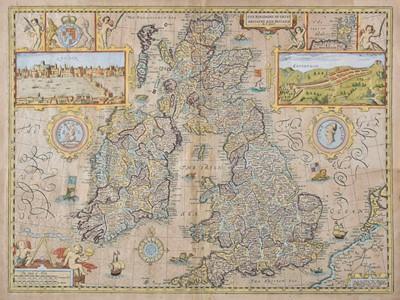 Lot 15 - British Isles. Speed (John), The Kingdom of of Great Britaine and Ireland, 1676