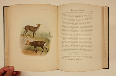 Lot 245 - Lydekker (Richard). The Deer of all Lands, 1st edition, 1898, one of 500 copies, signed