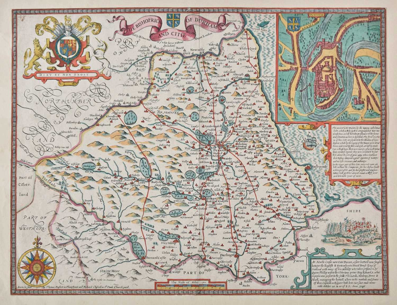 Lot 32 - Durham. Speed (John), The Bishoprick and Citie of Durham, 1676