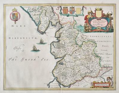 Lot 52 - Lancashire. Blaeu (Johannes), Lancastria Palatinatus Anglis Lancaster et Lancasshire, circa 1645