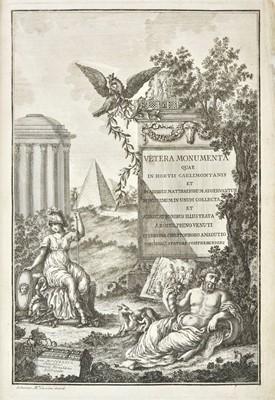 Lot 384 - Venuti (Ridolfino). Vetera Monumenta quae in Hortis Caelimontanis, 3 vols., Rome, 1776-79