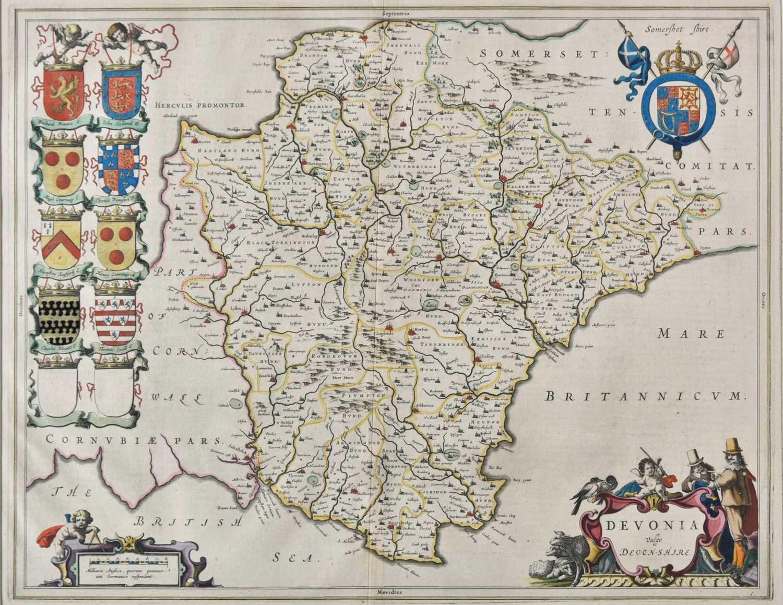 Lot 23-Devon. Blaeu (Johannes), Devonia vulgo Devon-Shire, 1645 or later