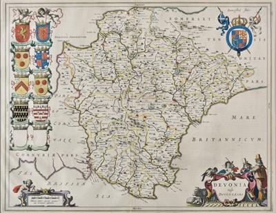 Lot 23 - Devon. Blaeu (Johannes), Devonia vulgo Devon-Shire, 1645 or later