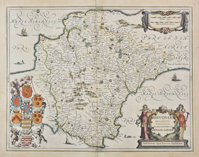 Lot 24-Devon. Jansson (Jan), Devoniae Descriptio. The Description of Devon-Shire, circa 1650