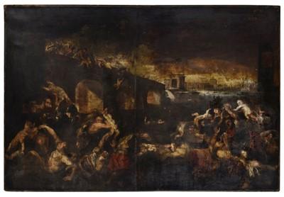 Lot 342-Flemish School. Massacre of the Innocents, first quarter 17th century