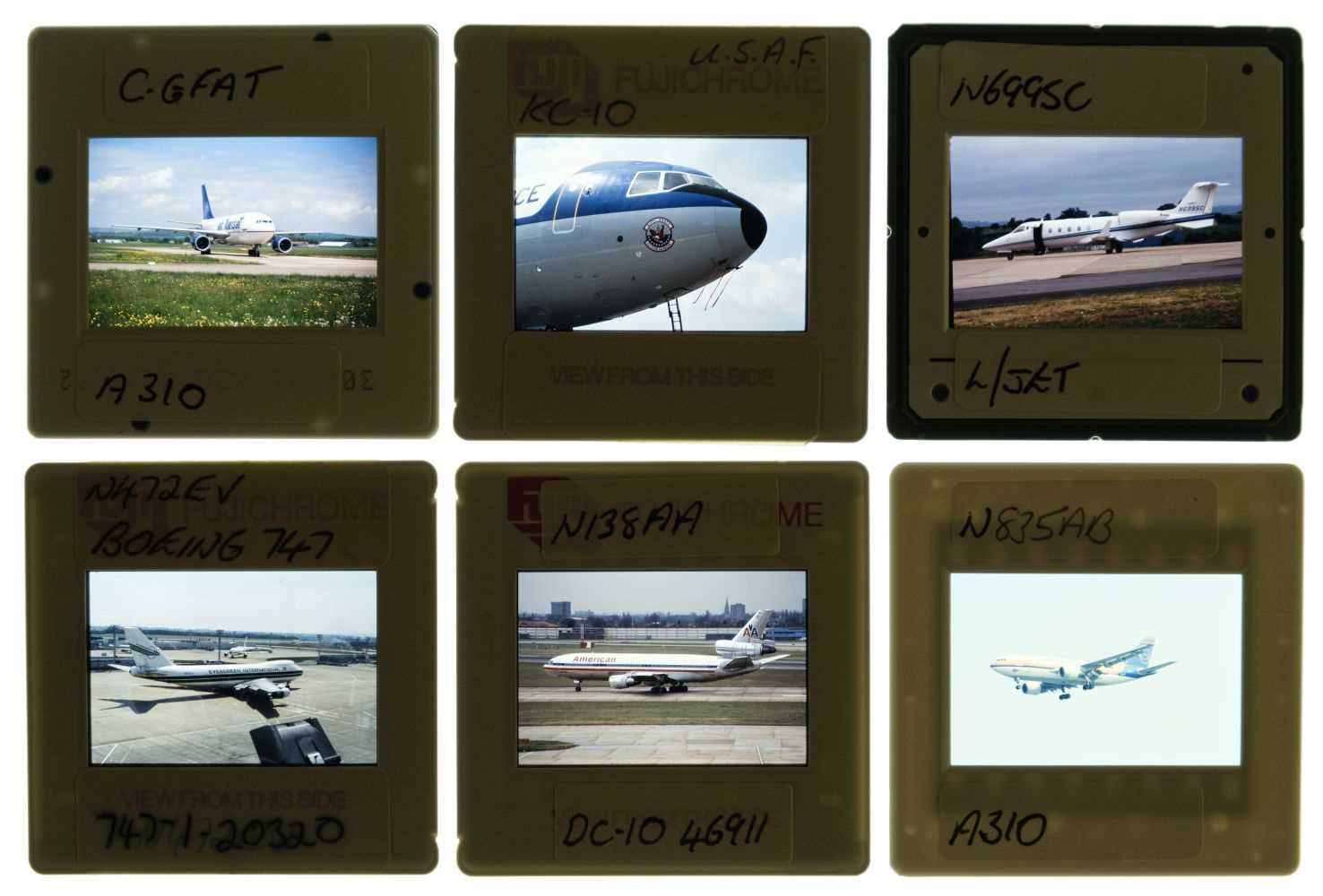 Lot 23-Aviation Slides. Civil aircraft 35mm slides c.1970s (approx. 10,000)