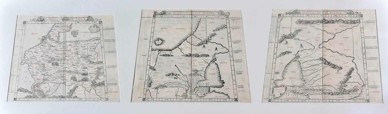 Lot 122 - Sylvanus (Bernard, publisher). Three Ptolemaic maps, Venice, 1511