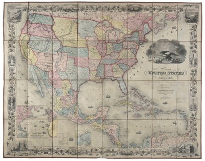 Lot 123 - United States. Colton (J. H. & Co.), Map of the United States of America..., 1855