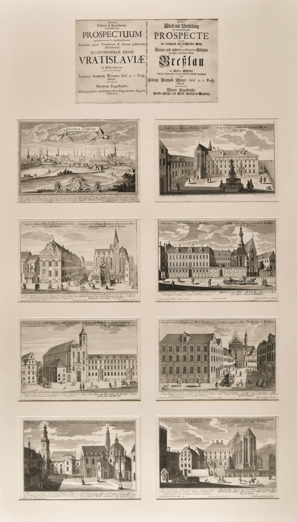 Werner (F. B.). Twenty-six engraved views of Breslau, circa 1735