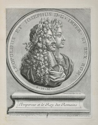Lot 382 - Thomassin (Simon). Volume containing 42 engraved portrait plates, late 17th & early 18th century