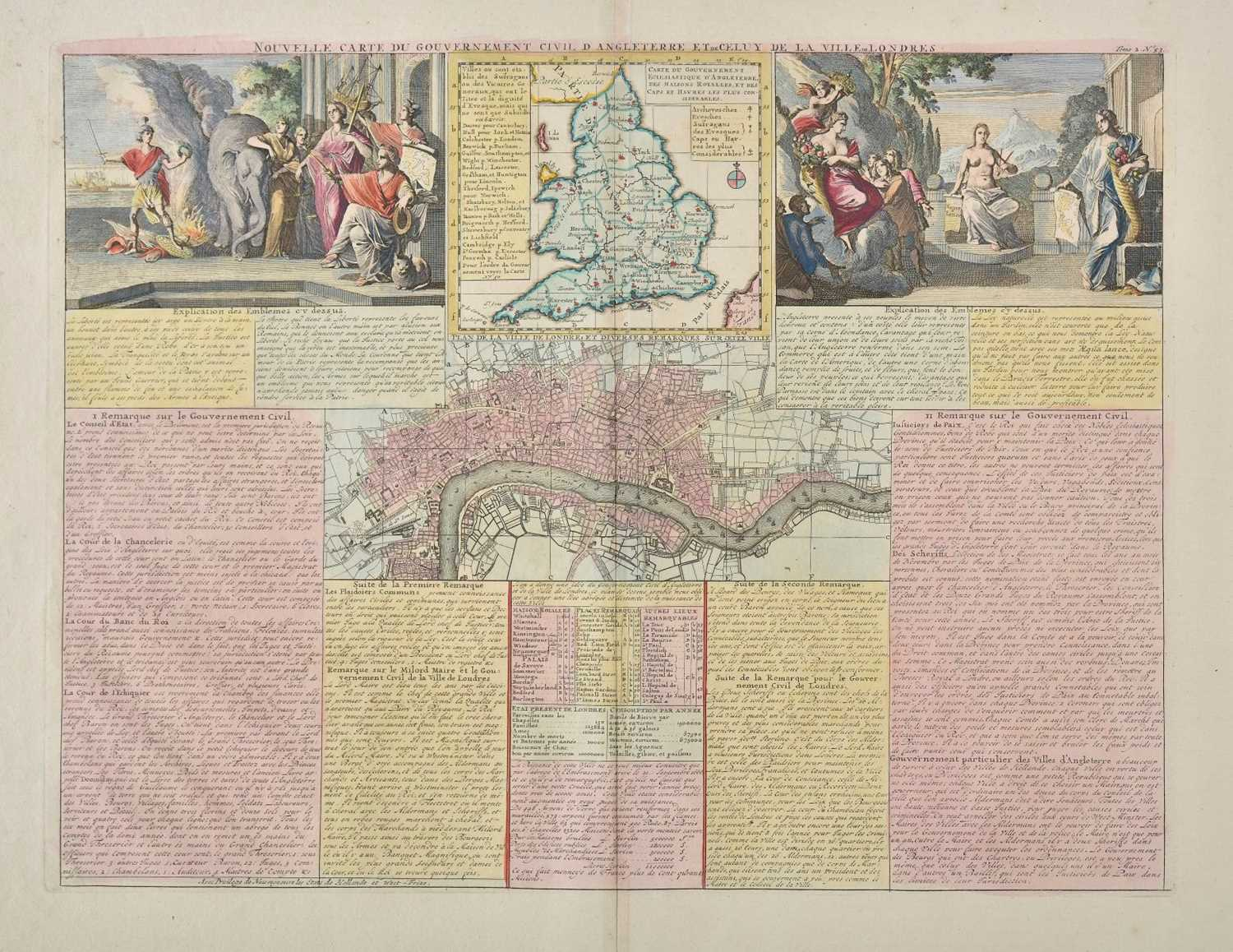 Lot 33-England & Wales. Chatelain (Henry Abraham), Four maps of the British Isles, circa 1720