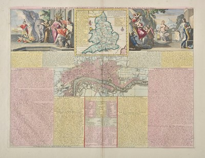 Lot 33 - England & Wales. Chatelain (Henry Abraham), Four maps of the British Isles, circa 1720