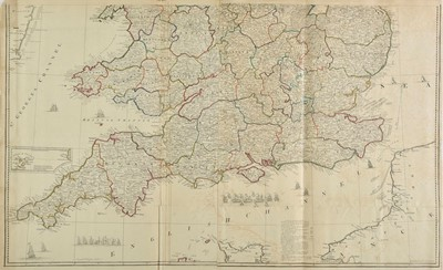 Lot 36-England & Wales. Rocque (John), Large scale map, 1794