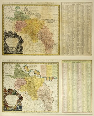 Lot 89 - Poland. Homann (Johann Baptist, heirs of), Carte du Diocese de Breslav..., 1751