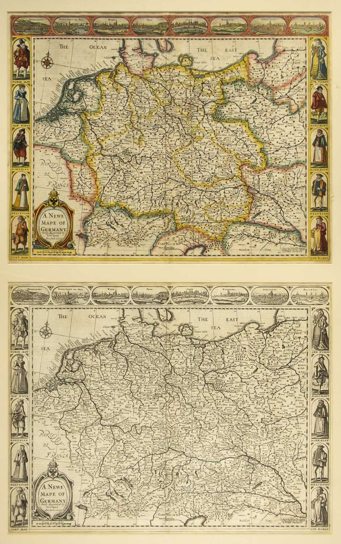 Lot 41-Germany. Speed (John),  A Newe Mape of Germany,  1676