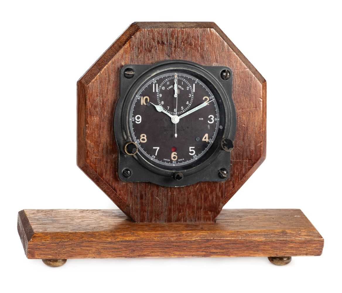 Lot 3-Aircraft clock. WWII aircraft clock by Carley & Clemence Ltd