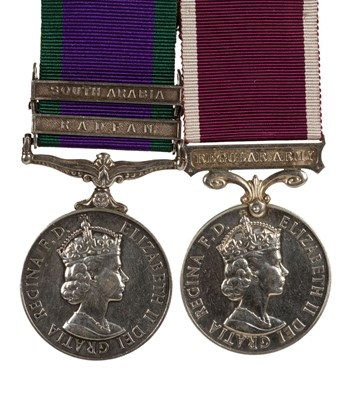 Lot 23-General Service Medal. A pair of medals - Corporal J. Baker, Royal Signals