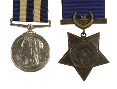 Lot 20-Egypt. A pair of medals - Able Seaman W.J. Walsh, Royal Navy