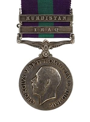 Lot 41 - General Service Medal - Private J. Langan, Royal Army Medical Corps