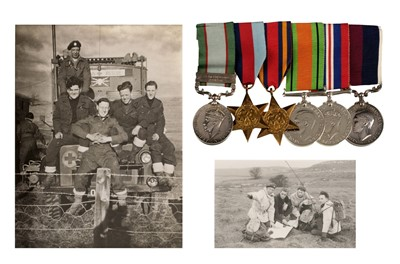 Lot 33-WWII group of medals - Royal Air Force