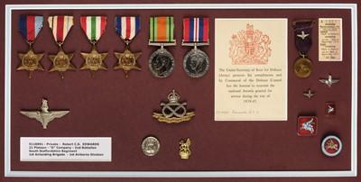 Lot 31 - WWII Arnhem group of medals