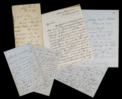 Lot 146 - Dalhousie (Marquess of). Autograph letter signed to Sir William Hooker, 1849, & other Indian letters
