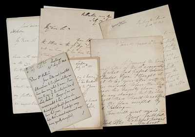 Lot 152 - Hastings (Francis Rawdon, 1st Marquess). Three autograph letters signed, 1801-10, & 3 other letters