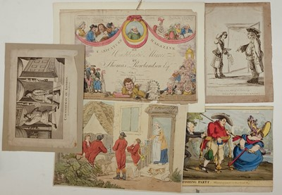 Lot 334 - Cartoons & caricatures. A mixed collection of approximately eighty caricatures, 18th & 19th century