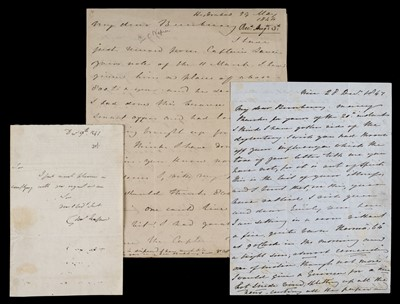 Lot 166 - Napier (Sir Charles, 1782-1853). Three autograph letters signed, 1841-7