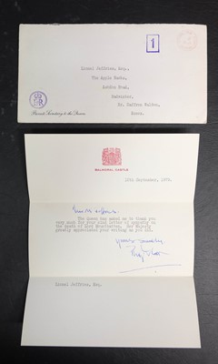 Lot 608 - Philip (Prince, Duke of Edinburgh, 1921-). Typed Letter Signed, 13 September 1979