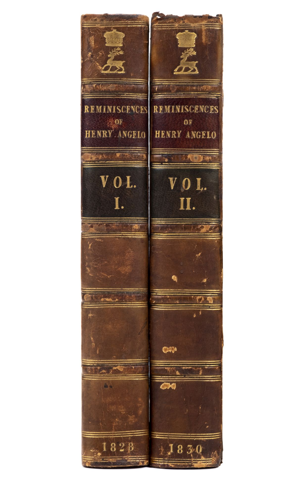 Angelo (Henry). Reminiscences of Henry Angelo, 2 volumes, 1828