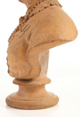 Lot 297-Crimean War. Victorian terracotta bust modelled as Mary Seacole