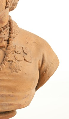 Lot 297 - Crimean War. Victorian terracotta bust modelled as Mary Seacole