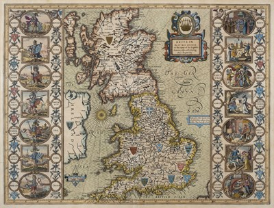 Lot 13-British Isles. Speed (John), Britain as it was devided in the tyme of the English Saxons..., 1627