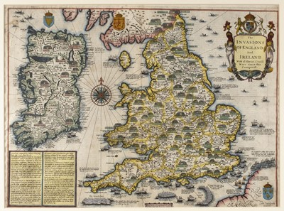 Lot 14-British Isles. Speed (John), The Invasions of England and Ireland..., circa 1627