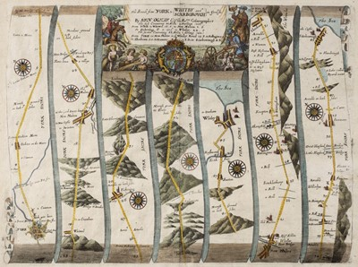 Lot 76 - Ogilby (John). The Roads from York to Whitby and Scarborough in Yorkshi...., circa 1680