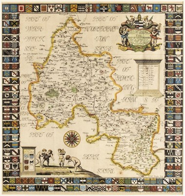 Lot 78 - Oxfordshire. Plot (Robert), The Map of Oxfordshire, 1677