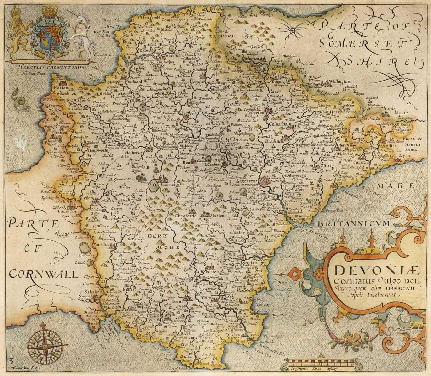 Lot 25 - Devonshire. Saxton Christopher & Kip William), Devoniae comitatus vuldo Denshyre, 1637