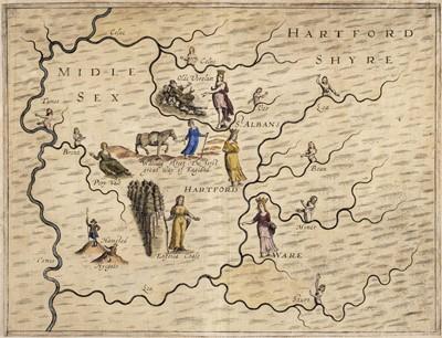 Lot 27 - Drayton (Michael), Two untitled allegorical maps, circa 1622